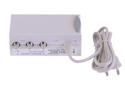Versterker 17 dB 47-862 MHz 2 Uitgangen