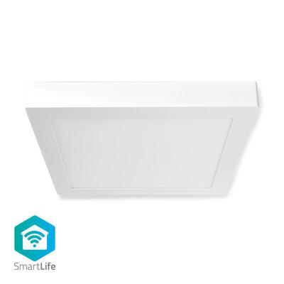 Wi-Fi Smart Plafondlamp | Vierkant | 30 x 30 cm | Warm tot Koel Wit | Full Colour (RGB) | 1200 lm | 18 W | Slank Design | Aluminium