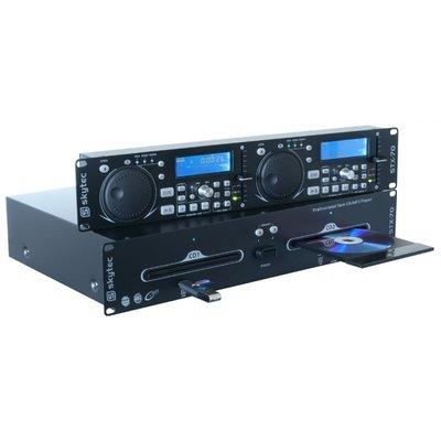 SkyTec STX-70 Dubbele CD-/MP3-/USB-/SD-speler