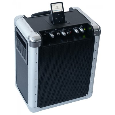 SkyTecPA-201 Mobiele Geluidsinstallatie voor iPod®