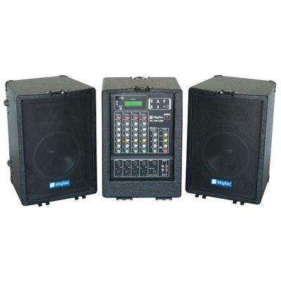 SkyTec PA-100USB Mobiele Geluidsinstallatie USB/SD/MP3 2x 300W