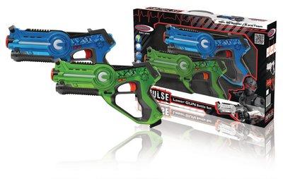 Lasergevecht-Set Blauw/Groen