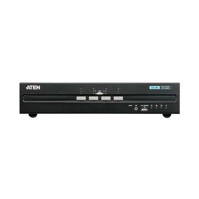 4-Poorts KVM Schakelaar DVI / USB Zwart