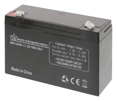 Oplaadbare Loodzuur Accu 6 V 10000 mAh 151 mm x 50 mm x 95 mm
