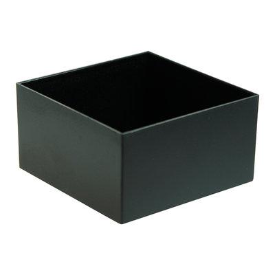 Potting box 75 x 75 x 40 mm Zwart ABS PU = 10 ST