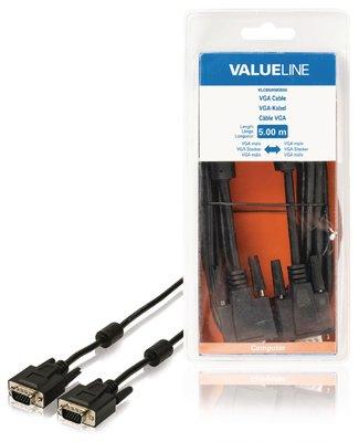 VGA Kabel VGA Male - VGA Male 5.00 m Zwart