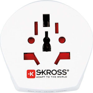 SKross Travel Adapter World-to-USA Earthed