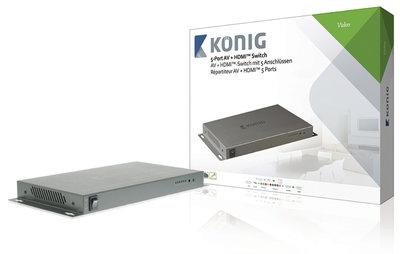 5-Poorts AV HDMI Schakelaar Donkergrijs