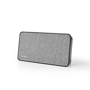 Fabric Bluetooth® Speaker   15 W   Tot 4 uur speeltijd   Digitale Wekker   Grijs / Zwart