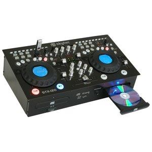 SkyTec STX-120 Dubbele Speler met versterker CD/MP3/USB/SD