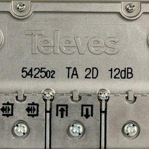Satelliet Splitter F-Splitter Satelliet 12 dB / 5-2400 MHz - 2 Uitgangen