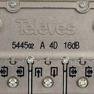 Satelliet Splitter F-Splitter Satelliet 16 dB / 5-2400 MHz - 4 Uitgangen