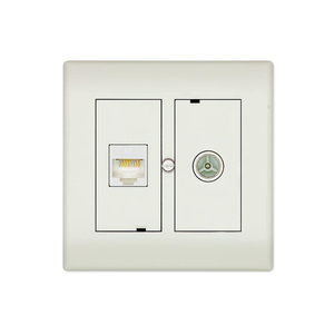 Technetix CL50 IECM + RJ45 Complete Walloutlet Toolless Install